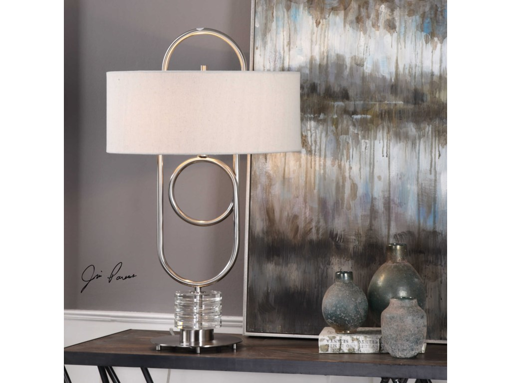 Uttermost Table LampsVaaler Brushed Nickel Table Lamp