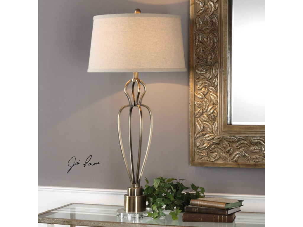 Uttermost Table LampsWallonia Antiqued Brass Table Lamp