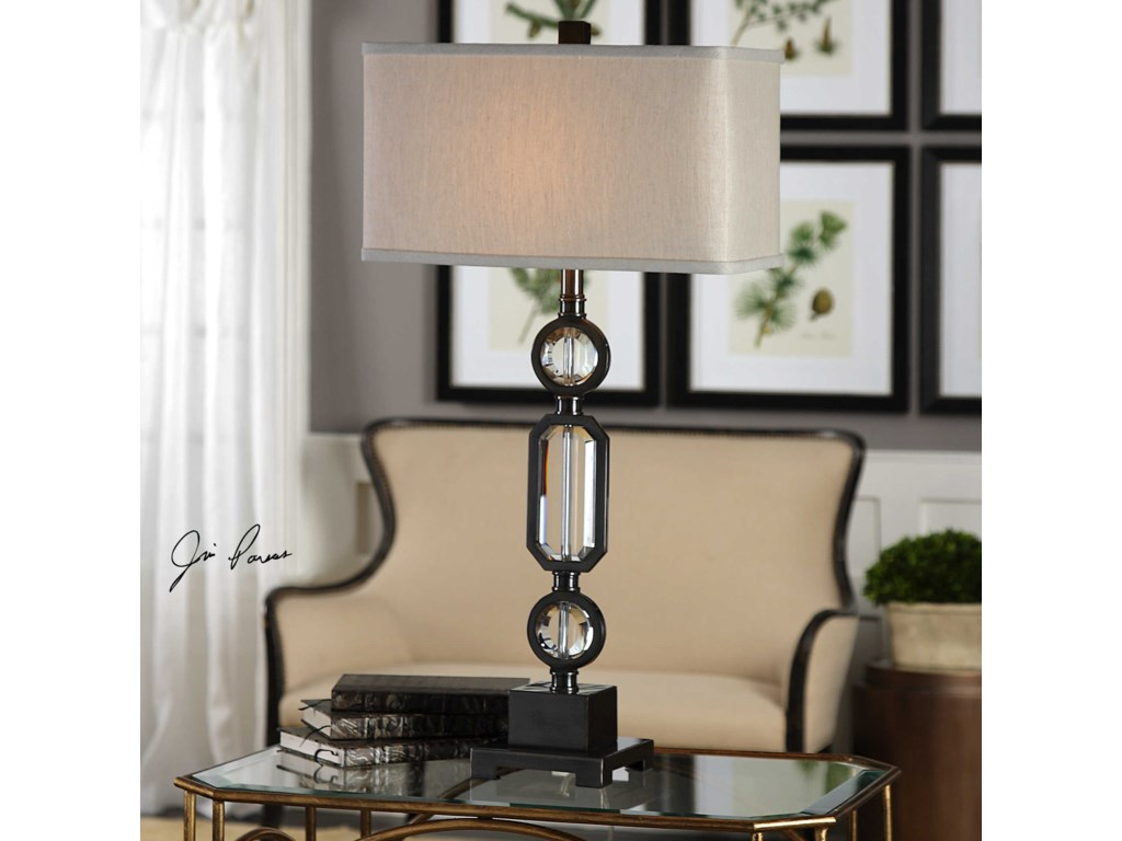 Uttermost Table LampsJugovo Bronze & Crystal Lamp