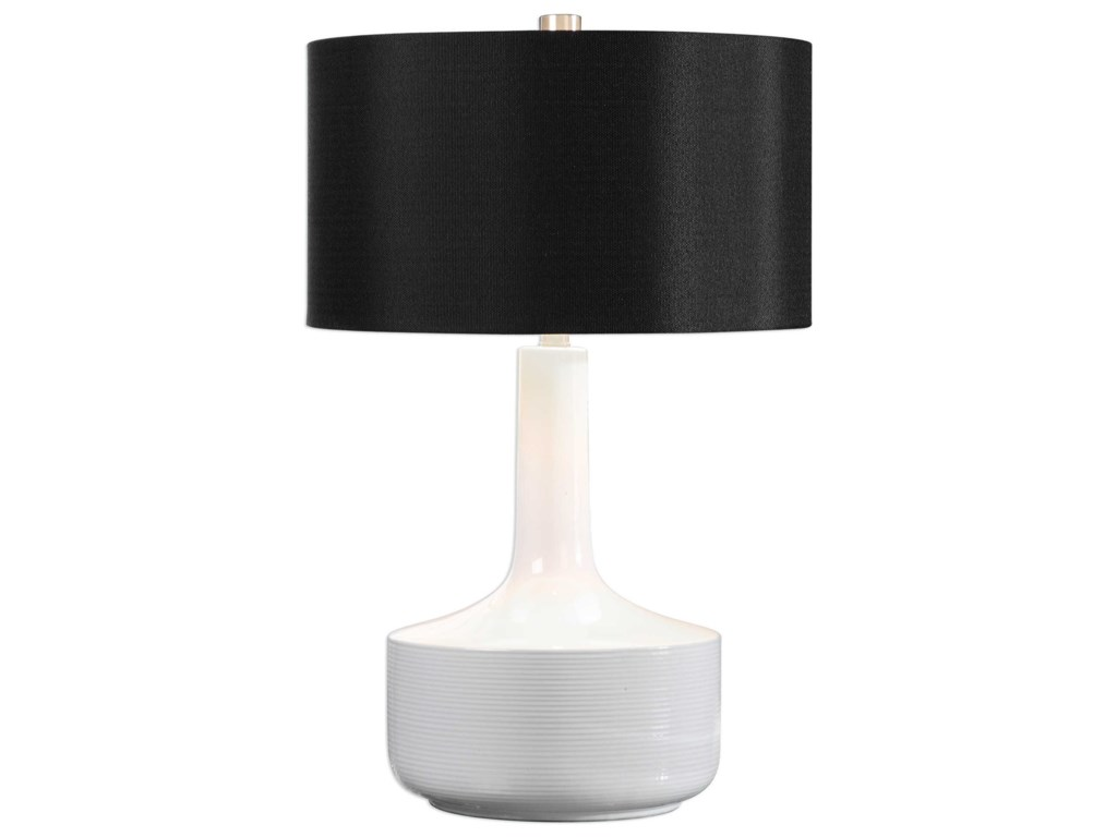 Uttermost Table LampsDrenova Modern White Table Lamp