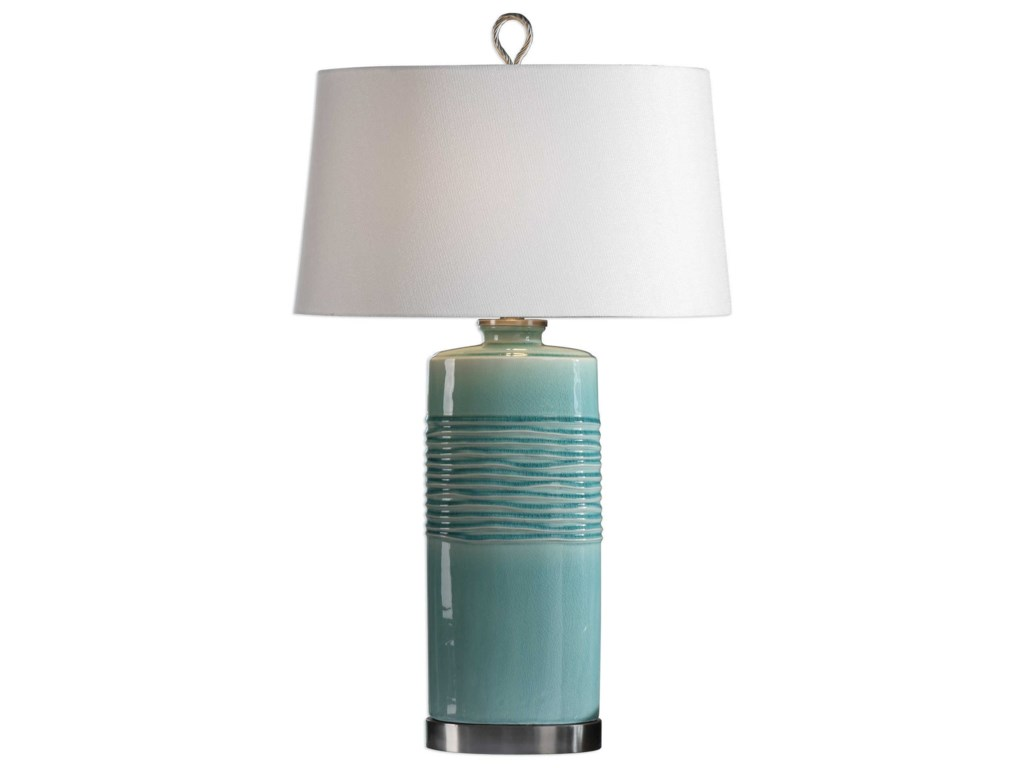 Uttermost Table LampsRila Distressed Teal Table Lamp