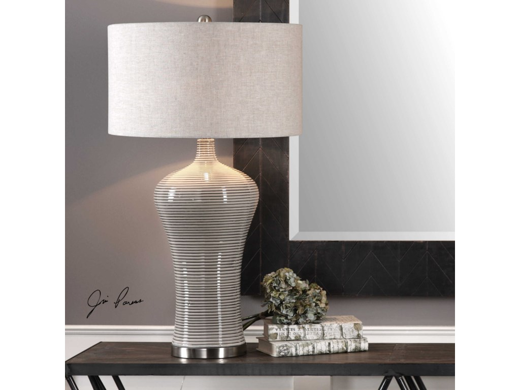 Uttermost Table LampsDubrava Light Gray Table Lamp