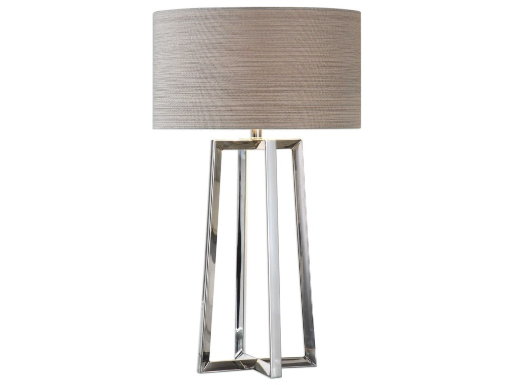 Uttermost Table LampsKeokee Stainless Steel Table Lamp