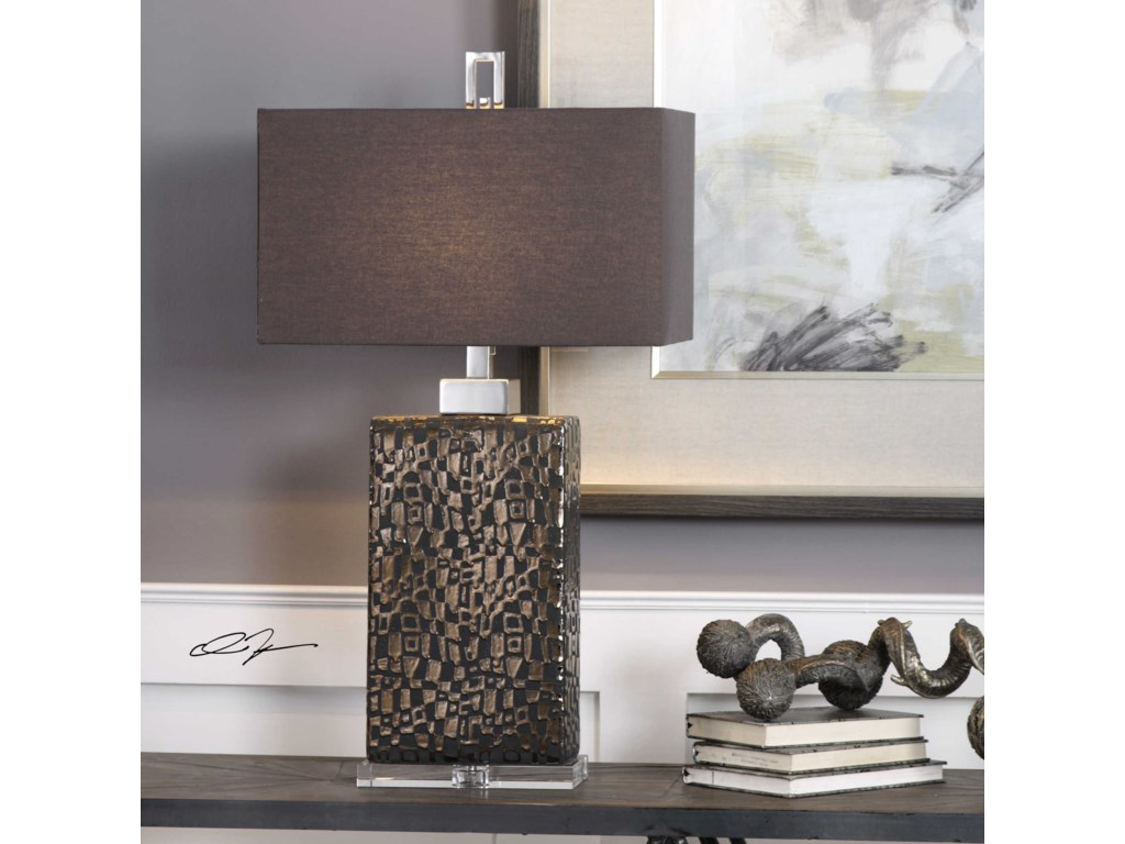 Uttermost Table LampsOlavo Etched Dark Bronze Lamp