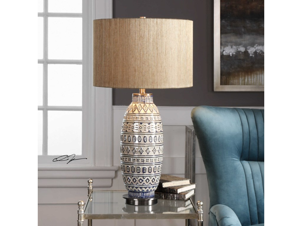 Uttermost Table LampsLokni Aged Ivory Table Lamp