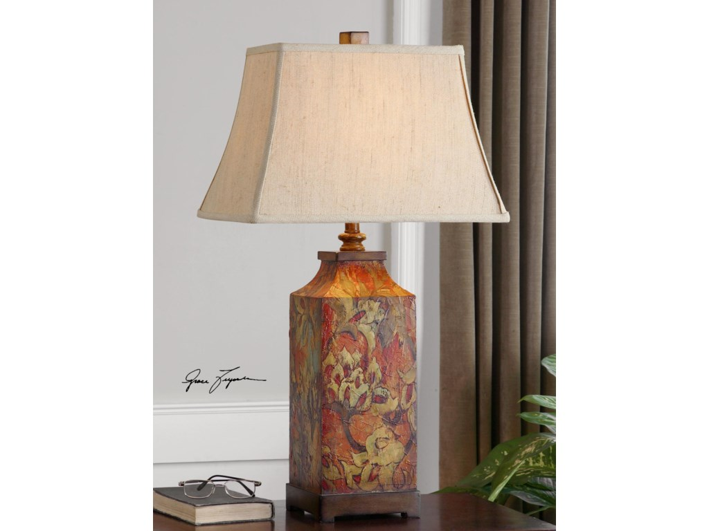 Uttermost Table LampsColorful Flowers