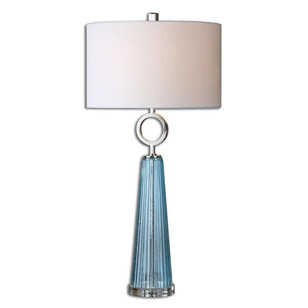 Uttermost Table Lamps 27698 1 Navier Blue Glass Table Lamp Dunk