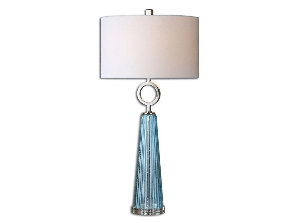 Uttermost Table LampsNavier Blue Glass Table Lamp