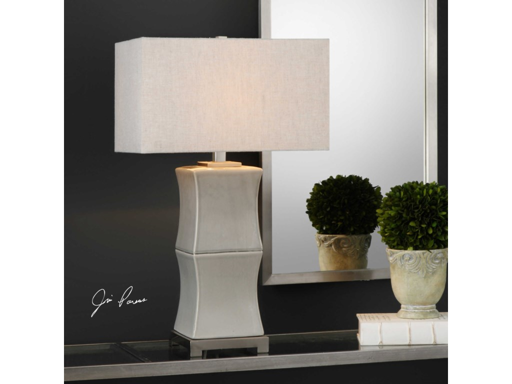Uttermost Table LampsArris Aged Gray Table Lamp