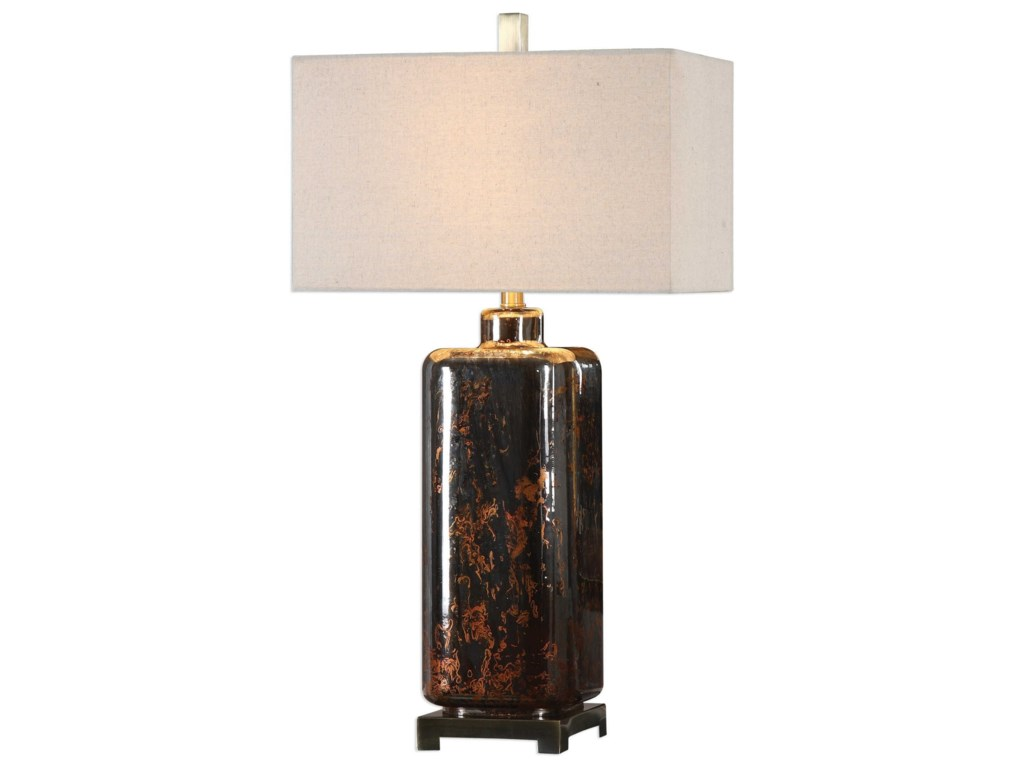 Uttermost Table LampsVanoise Bronze Mercury Glass Lamp