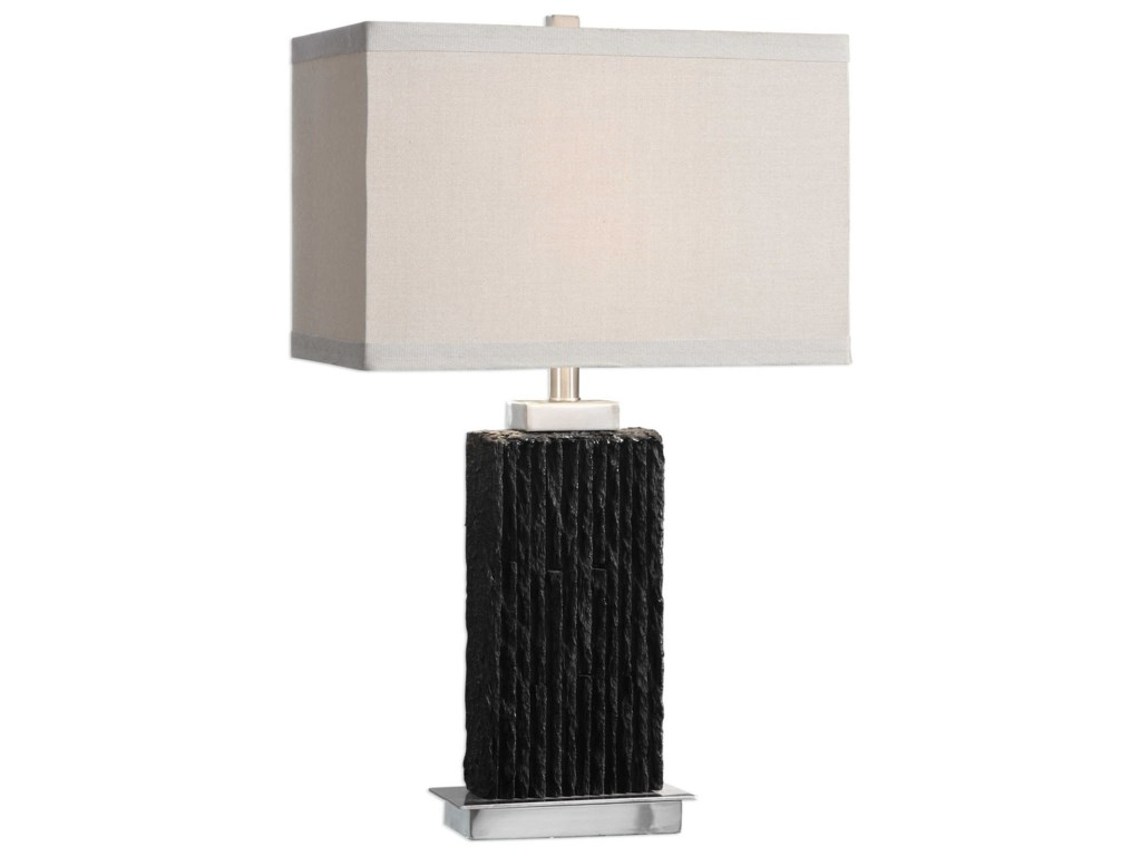 Uttermost Table LampsPravus Black Slate Table Lamp
