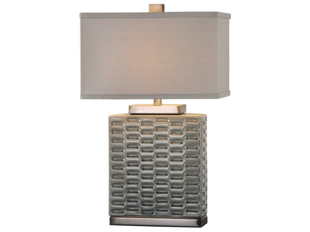 Uttermost Table LampsVirelles Sage Gray Ceramic Lamp
