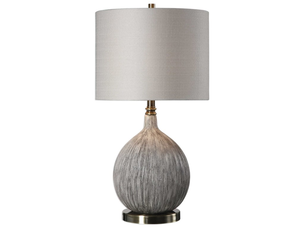 Uttermost Table LampsHedera Textured Ivory Table Lamp