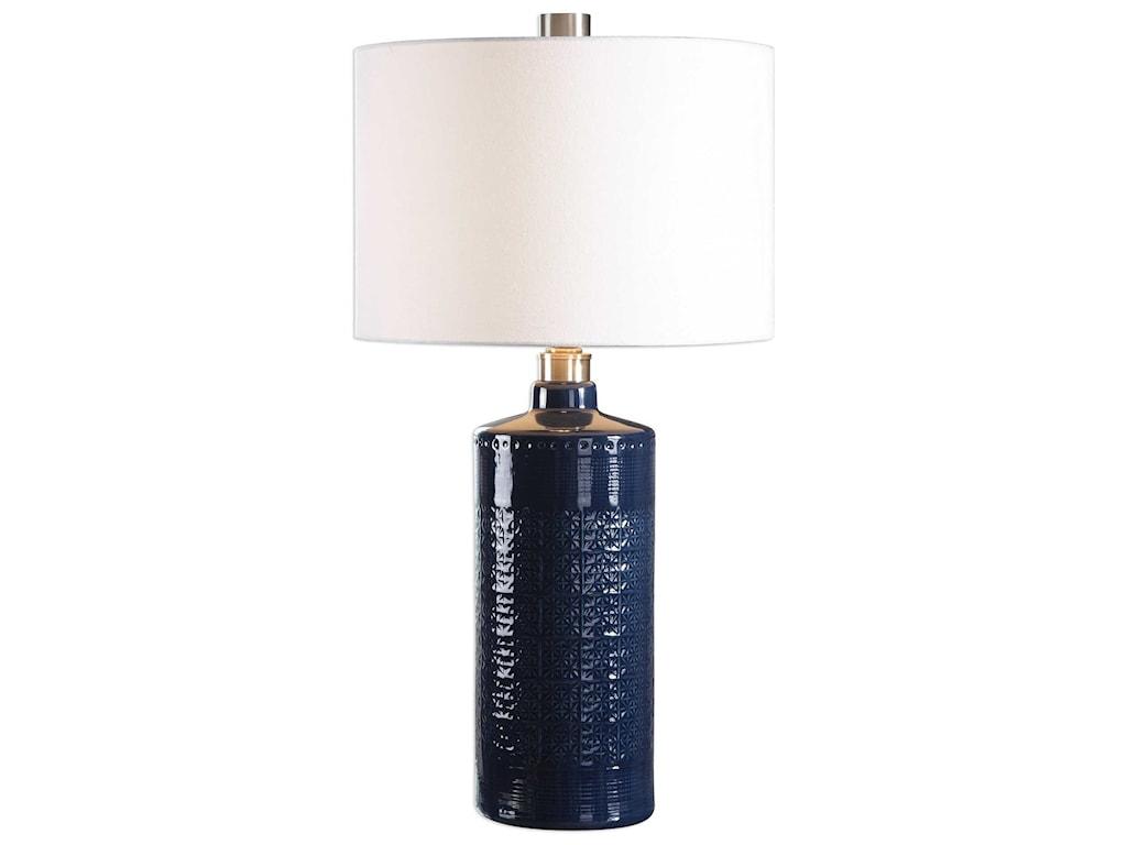 Lamps thalia royal blue table lamp ruby gordon furniture uttermost lampsthalia royal blue table lamp aloadofball Image collections
