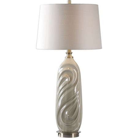 Griseo Sage Gray Table Lamp