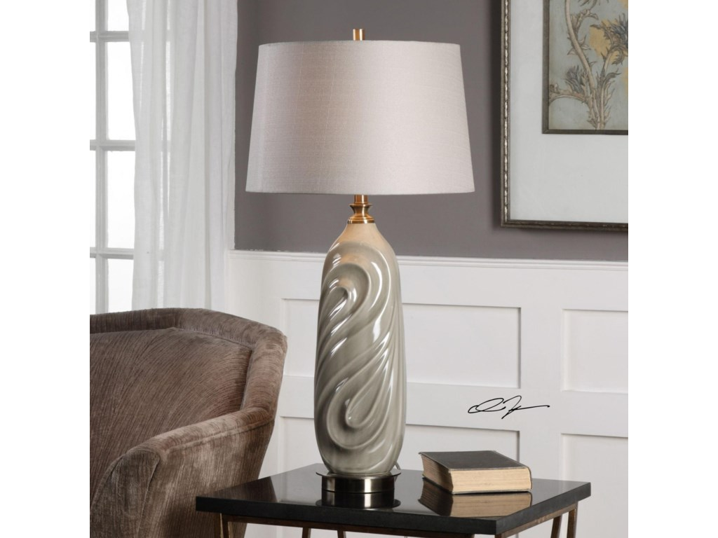 Uttermost Table LampsGriseo Sage Gray Table Lamp