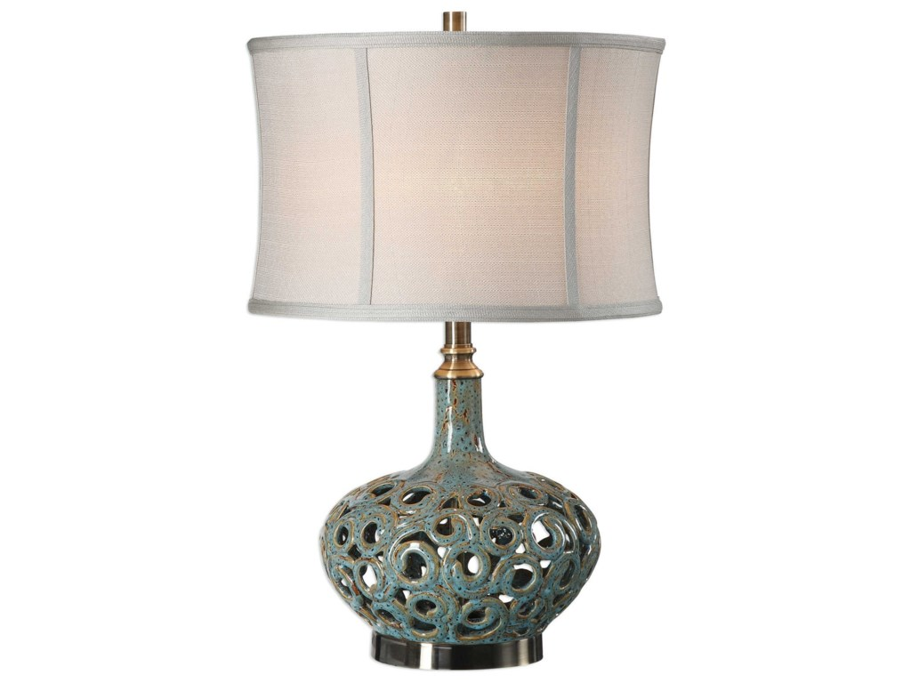 Uttermost Table LampsVolu Abstract Swirl Lamp