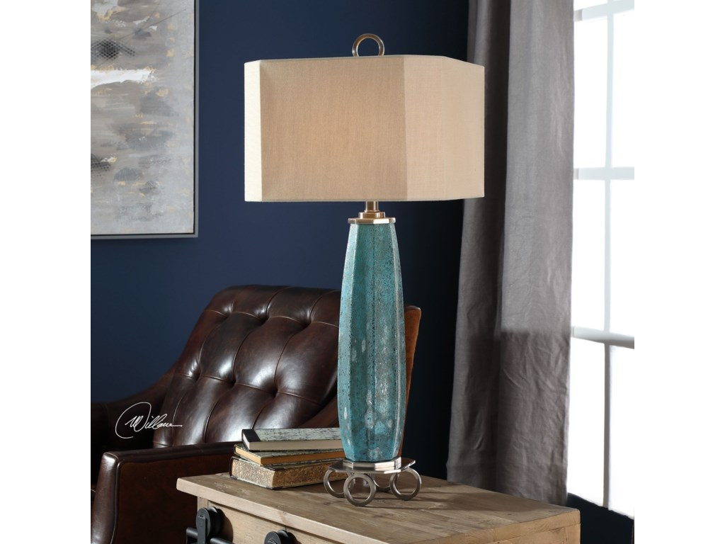 Uttermost Table LampsCabella Aged Blue Table Lamp