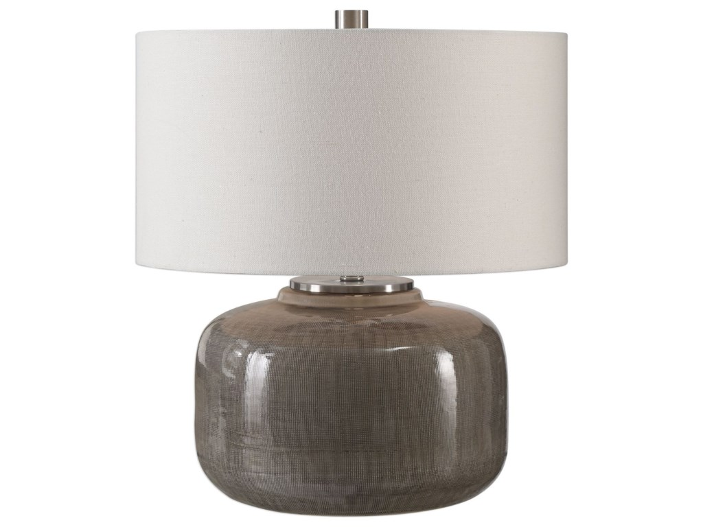 Uttermost Table LampsDhara Gray Glaze Lamp