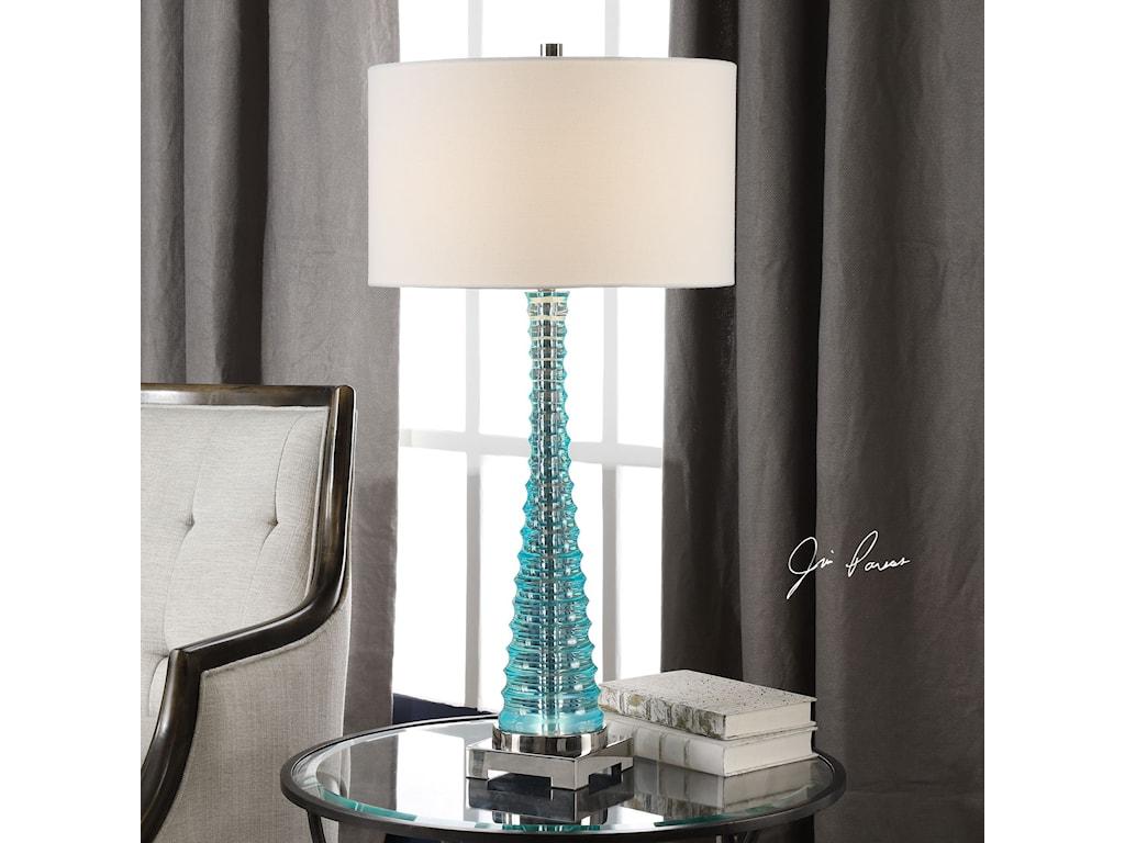Uttermost Table LampsMecosta Sky Blue Lamp