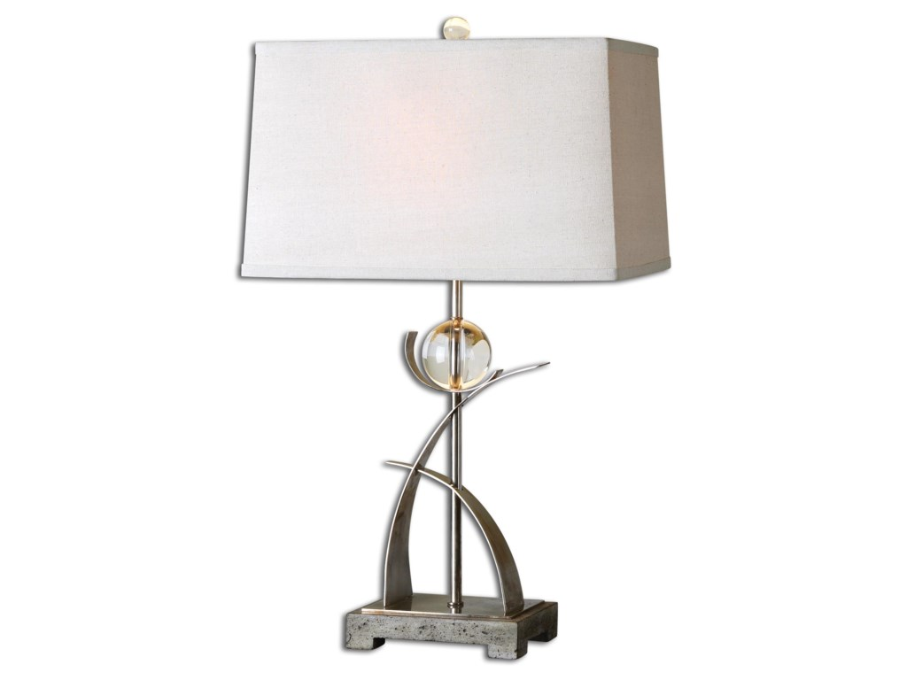 Uttermost Table LampsCortlandt Curved Metal Table Lamp