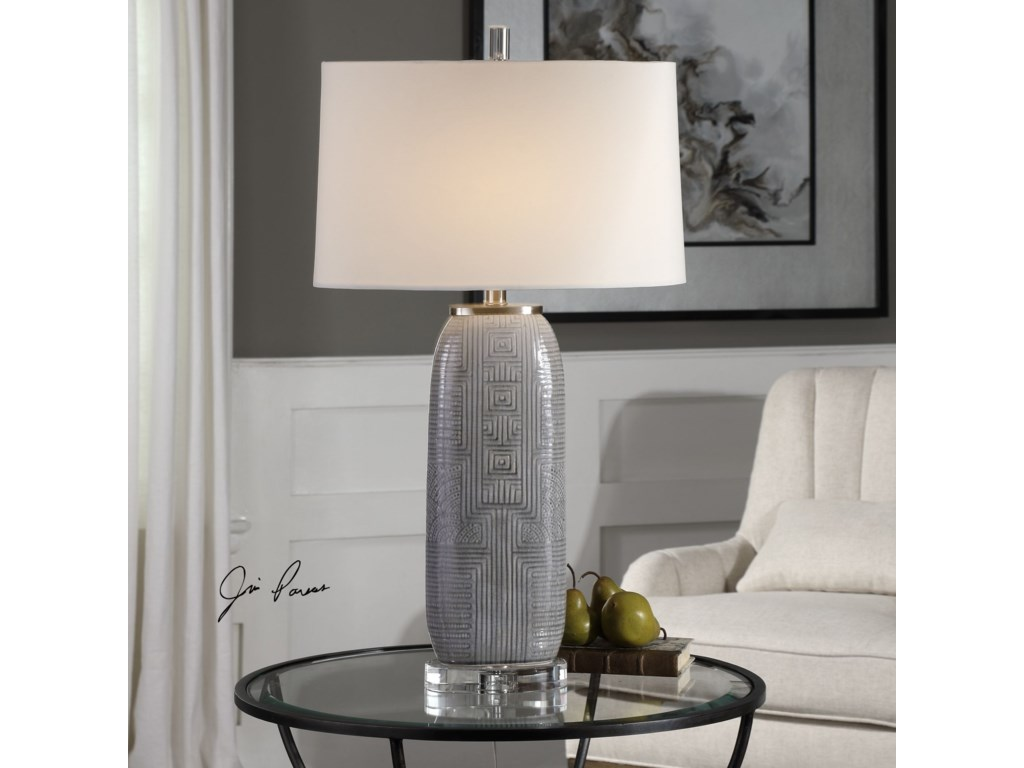 Uttermost Table LampsRavi Gray Patterned Lamp