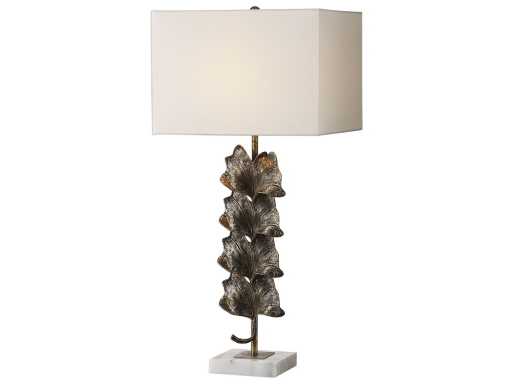 Uttermost Table LampsGinkgo Metallic Leaves Lamp