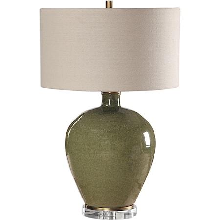 Elva Emerald Table Lamp