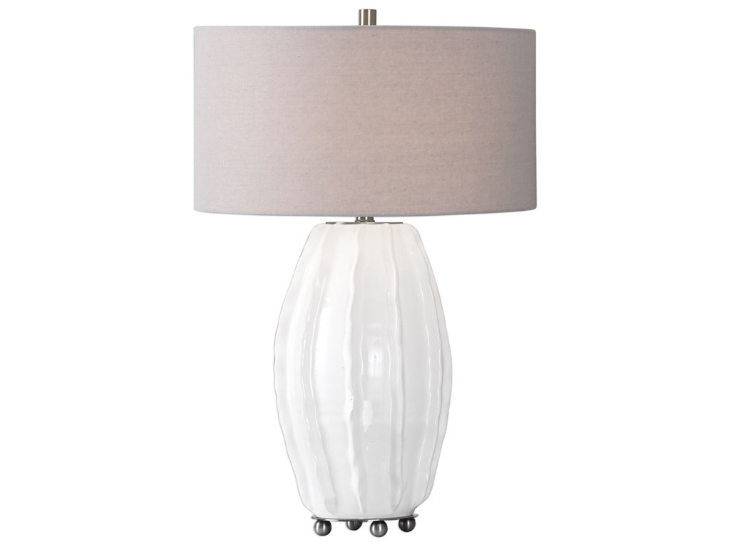Uttermost Table LampsMarazion Gloss White Lamp