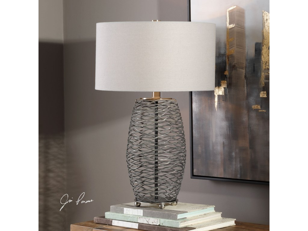 Uttermost Table LampsSinuous Wavy Steel Mesh Lamp