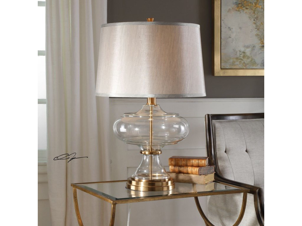 Uttermost Table LampsJelani Glass & Brass Lamp