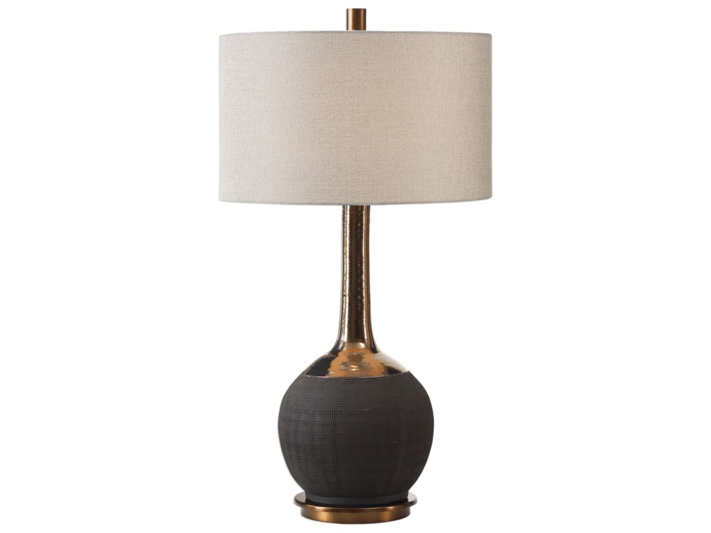 Uttermost Table LampsArnav Textured Black Lamp