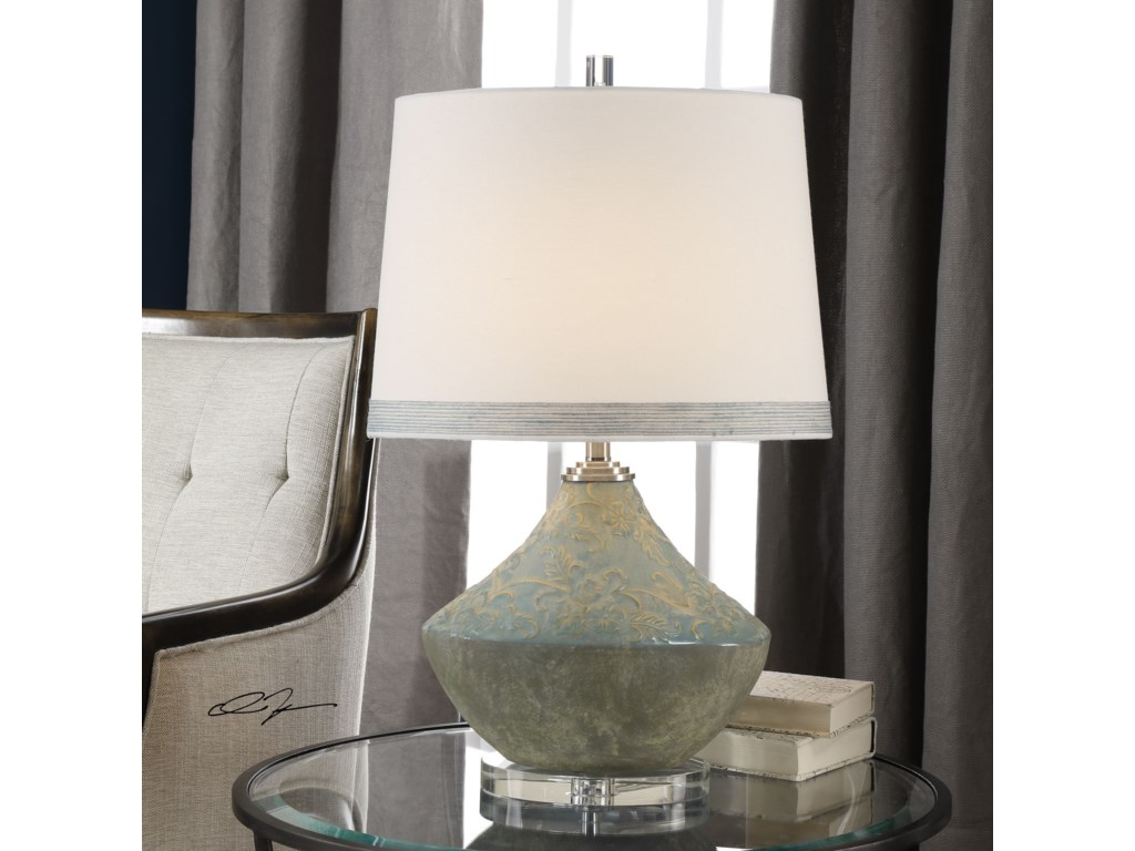 Uttermost Table LampsPadova Aged Light Blue Lamp
