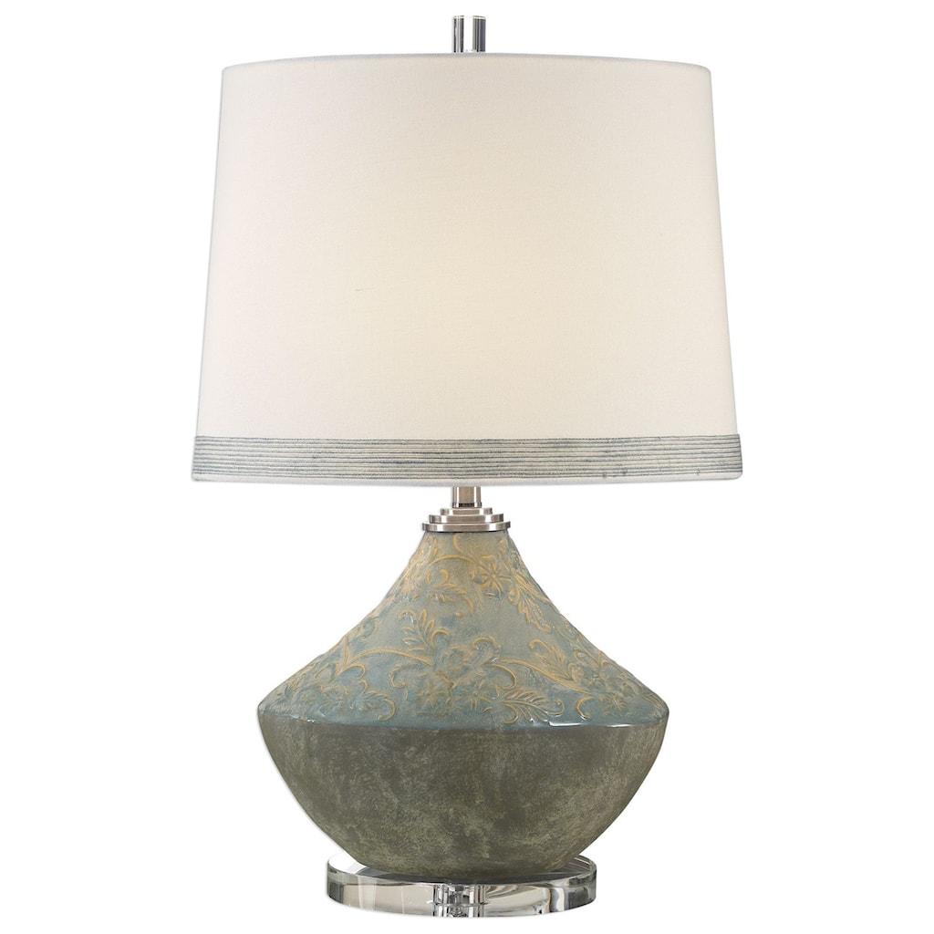 Uttermost Table Lamps 27781 1 Padova Aged Light Blue Lamp Miller