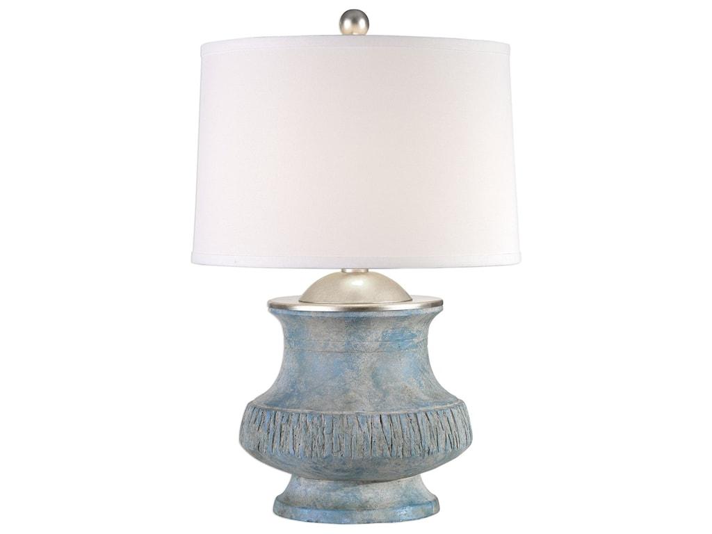 Uttermost Table LampsGavello Aged Blue Lamp