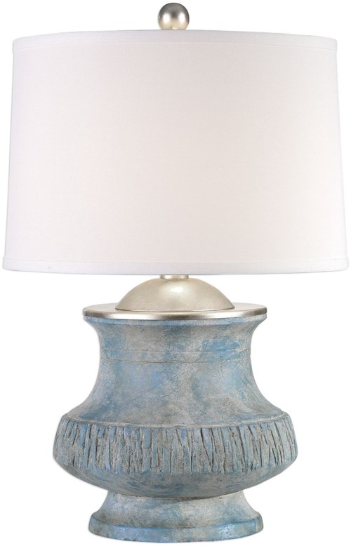 Uttermost lamps gavello aged blue lamp howell furniture table lamps uttermost lamps gavello aged blue lamp greentooth Choice Image