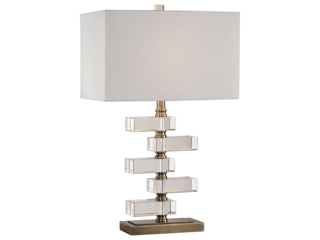 Uttermost Table LampsSpilsby Stacked Crystal Block Lamp