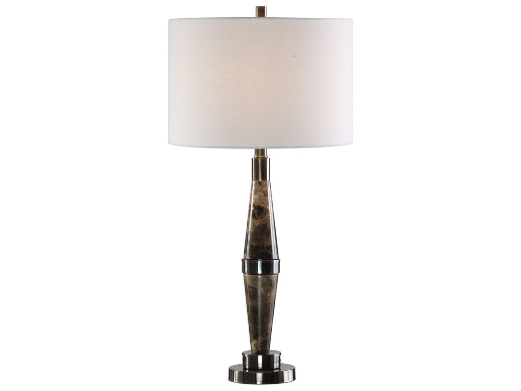 Uttermost Table LampsMaston Black Brown Marble Lamp
