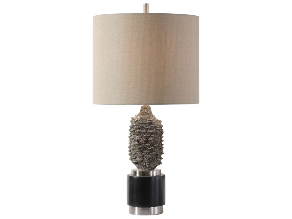 Uttermost Table Lampsbanksia Metallic Silver Lamp
