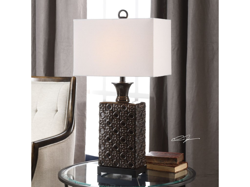 Uttermost Table LampsBertoia Black Patterned Lamp