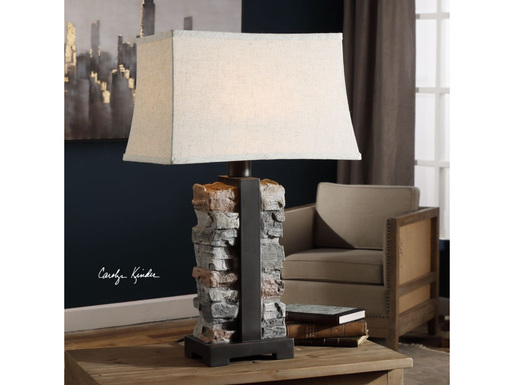 Uttermost Table LampsKodiak Stacked Stone Lamp