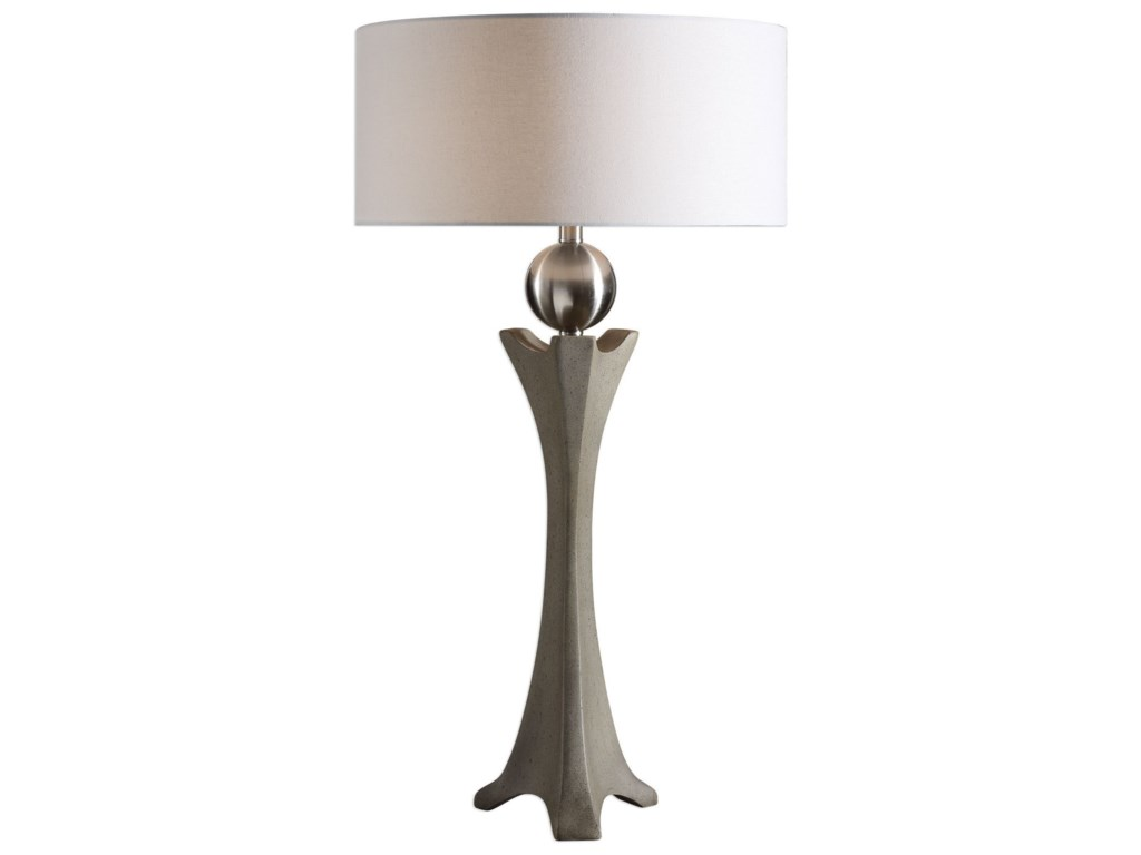 Uttermost Table LampsHaver Shaped Concrete Lamp