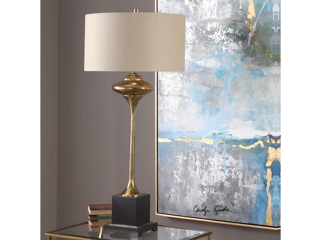 Uttermost Table LampsChristiani Metallic Gold Lamp