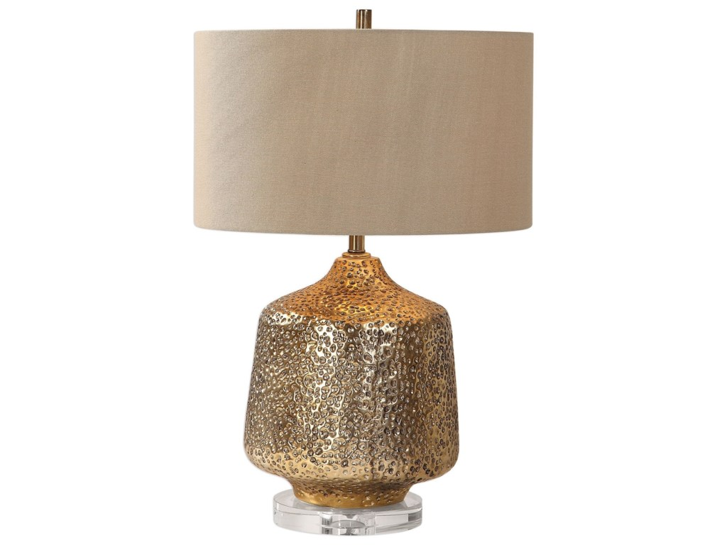 Uttermost Table LampsGalaxia Metallic Gold Lamp