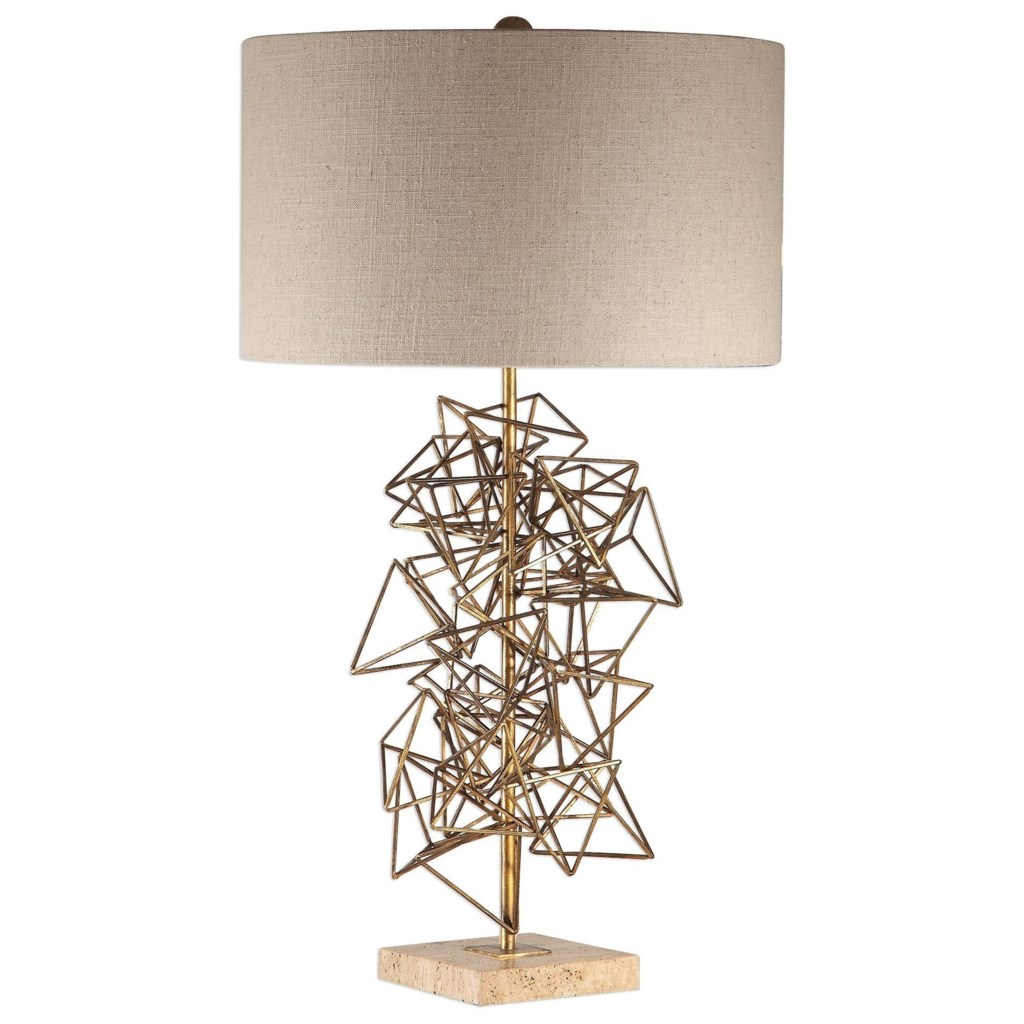 Uttermost Table Lamps Vasaya Abstract Gold Table Lamp Goffena
