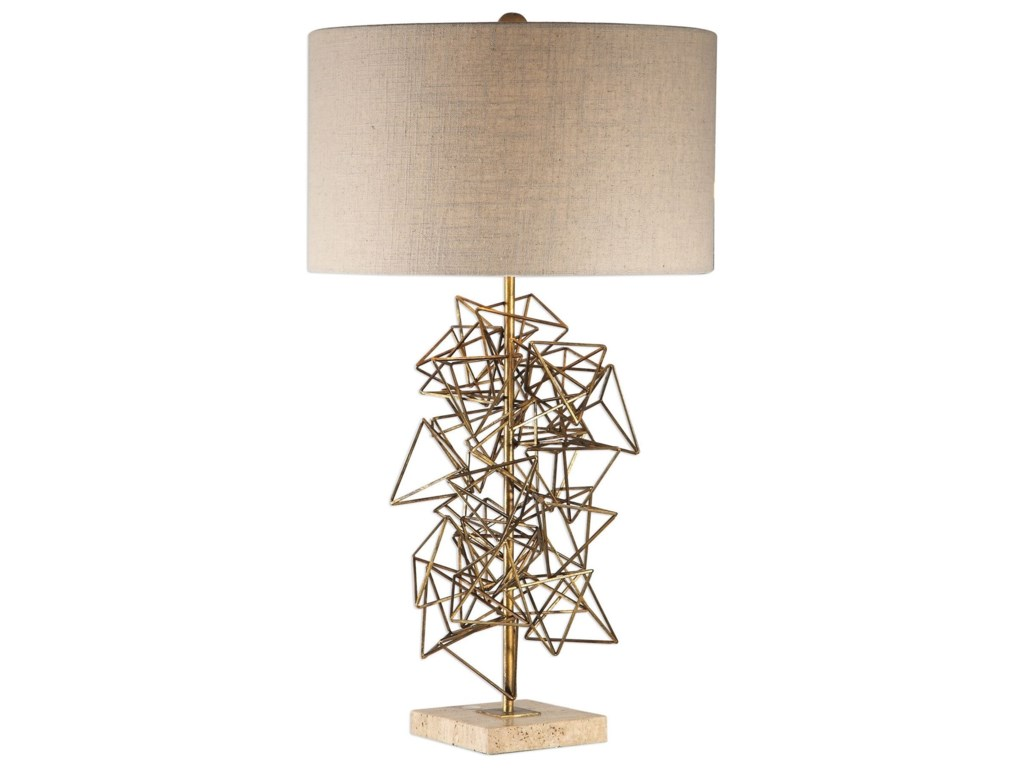 Uttermost Table LampsVasaya Abstract Gold Table Lamp