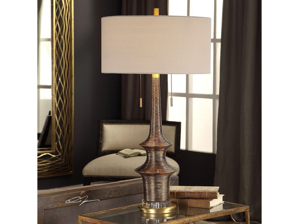 Uttermost Table LampsGalatea Antique Gold Lamp