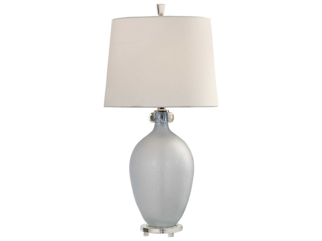 Uttermost Table Lamps 27851 Leah Frosted Glass Table Lamp Dunk