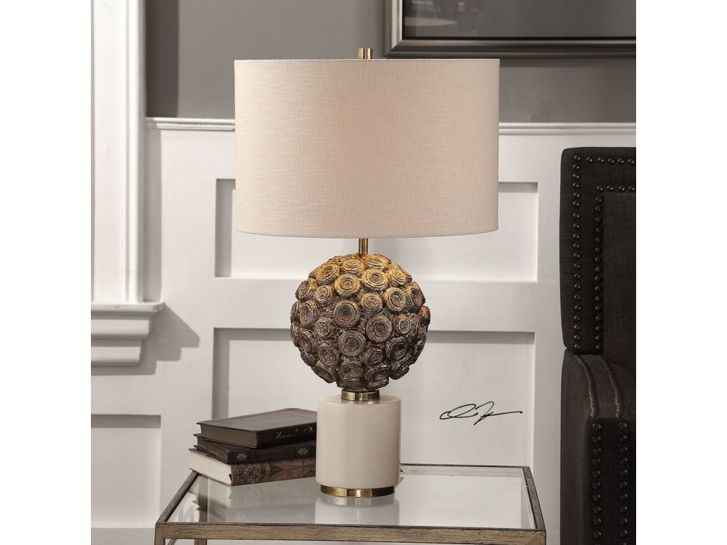 Uttermost Accent LampsTaro Aged Gold Lamp