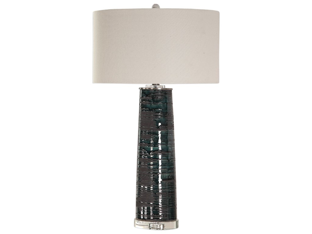 Uttermost Table LampsChamila Dark Charcoal Lamp